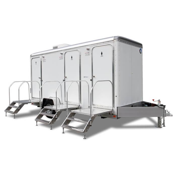 Restroom Trailers Shower Trailers Moon Portable Restrooms - Bathroom rentals for weddings cost