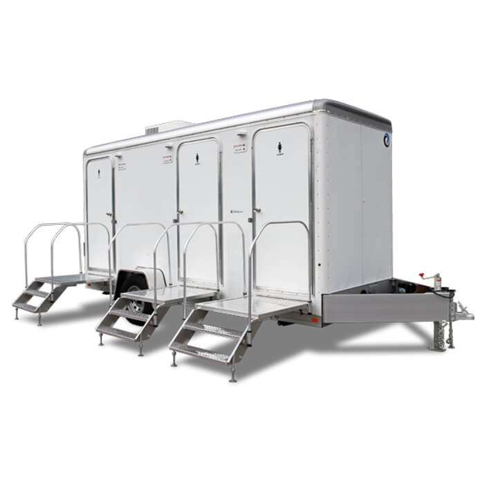 Comfort Elite Platinum Restroom Trailer Rental - Moon Portable Restrooms