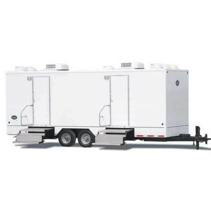 Restroom Trailers Shower Trailers Moon Portable Restrooms - Bathroom trailer rental cost
