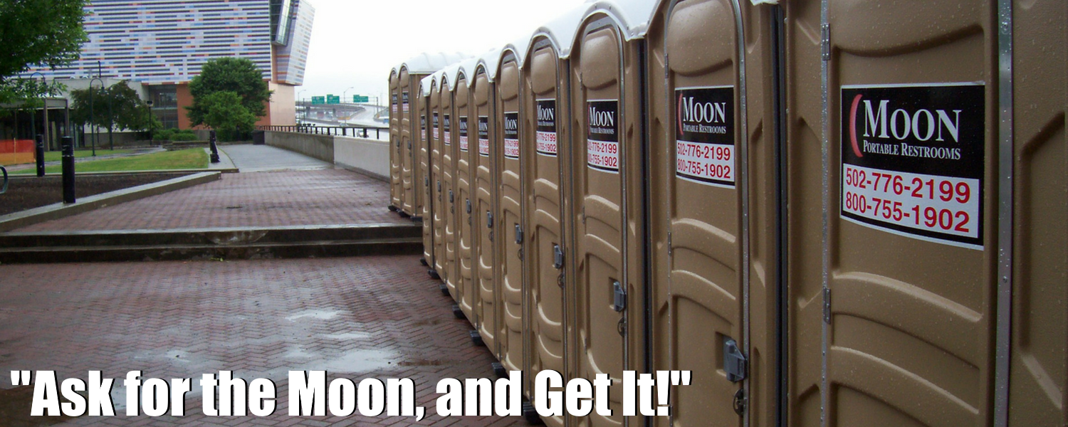 Moon Portable Restrooms Outside The Muhammad Ali Center In