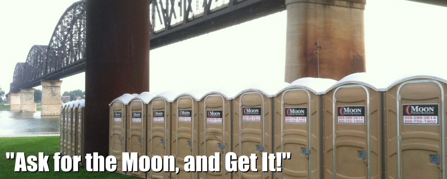 Welcome to Moon Portable Restrooms, Superior Rentals & Service