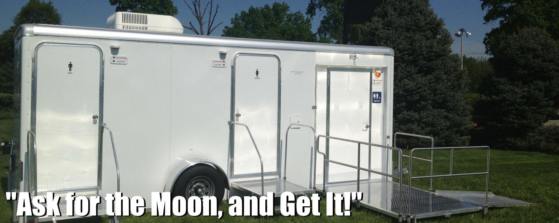 Moon Portable Restroom Trailer